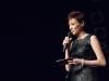 Moderatorin Annie Heger beim Plattsounds Bandcontest 2017