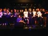 Gruppenfoto aller teilnehmnender Bands beim plattdeutschen Bandcontest Plattsounds 2018im Zollhaus in Leer. Die Aufnahmen dürfen im Rahmen der Berichterstattung von Plattsounds 2018 honorarfrei verwendet werden.