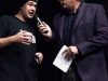 Der Rapper Blowm im Interview mit Moderator Ludger Abeln, nach dem er mit DJ Stickeltodd ihren Song