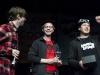 Die Band Blowm bei der Preisverleihung beim plattdeutschen Bandcontest Plattsounds am 8. Oktober 2011 in der Exerzierhalle in Oldenburg. Das HipHop-Duo aus Emden gewinnt den dritten Preis mit ihrem Song